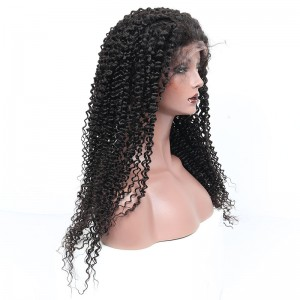 360 Lace Frontal Human Hair Wigs Kinky Curly Lace Wig 150% Density Pre Plucked With Baby Hair Brazilian Remy Hair