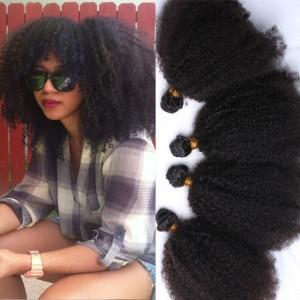 Brazilian Kinky Curly Virgin Hair 8A Grade 4 Pcs Afro Kinky Curly Human Hair Extensions 4B 4C Kinky Curly Human Hair Bundles