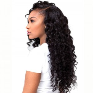 250% Density Wig Pre-Plucked Natural Hair Line Deep Wave Peruvian Lace Wigs with Baby Hair for Black Women