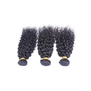 Natural Color Brazilian Curl Hair Extensions Brazilian Virgin Human Hair Weave 3 Bundles