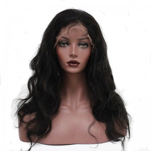 Brazilian Lace Front Ponytail Wigs Body Wave Pre-Plucked Natural Hair Line 150% Density wigs No Shedding