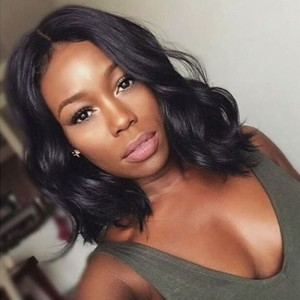 250% Density Short Human Hair Wigs 8A Wavy Glueless Brazilian Body Wave Lace Front Bob Wigs With Baby Hair For Black Women