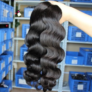 Body Wave Unprocessed Mongolian Virgin Human Hair Weave 3 Bundles Natural Color