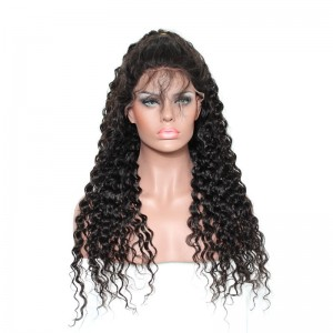 250% Density Full Lace Wigs Peruvian Virgin Hair Loose Curly Lace Front Human Hair Wigs Natural Hair Line