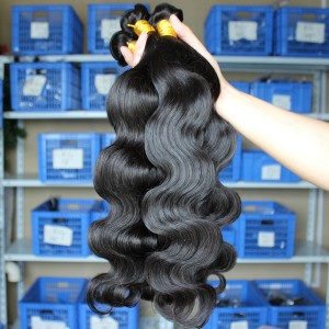 Natural Color Peruvian Virgin Human Hair Body Wave Hair Weave 3pcs Bundles