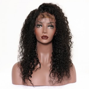 250% Density Full Lace Human Hair Wigs Brazilian Virgin Hair Kinky Curly Full Lace Wigs 24inch
