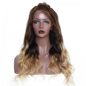 T4/27 Colorful 250% Density Lace Front Wigs With Baby Hair Pre Plucked Brazilian Virgin Human Hair Wigs Bleached Knots