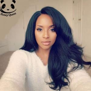 250% Density Brazilian Italian Yaki Straight Lace Wig Front Human Hair Wigs Coarse Yaki Lace Front Human Hair Wigs