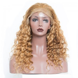 Colorful 250% Density Loose Wave Lace Front Wigs Honey Blonde Pre Plucked With Baby Hair #27 Brazilian Virgin Human Hair Wigs