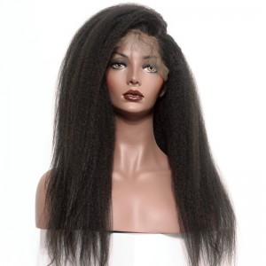 Lace Front Human Hair Wigs Natural Hair Line Kinky Straight Human Hair Wigs 150% Density Wigs