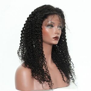 13x6 Deep Part Lace Front Human Hair Wigs Kinky Curly Wig Brazilian Remy Hair 150% Density Wigs Pre Plucked With Baby hair