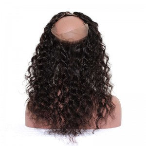 360 Lace Frontal with Cap Loose Wave Brazilian Virgin Hair Lace Frontal With Natural Hairline