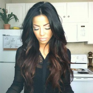 Brazilian Virgin Hair Wavy Ombre Full Lace Human Hair Wigs For Women