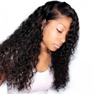 Pre Plucked 360 Lace Frontal Wig 150% Density Deep Wave Human Hair Wigs Brazilian Lace Front Wig With Baby Hair