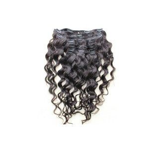 Loose Wave Brazilian Virgin Hair Clip In Huamn Hair Extensions Natural Color