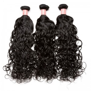 Natural Color Water Wet Wave Brazilian Virgin Human Hair Weave 3pcs Bundles