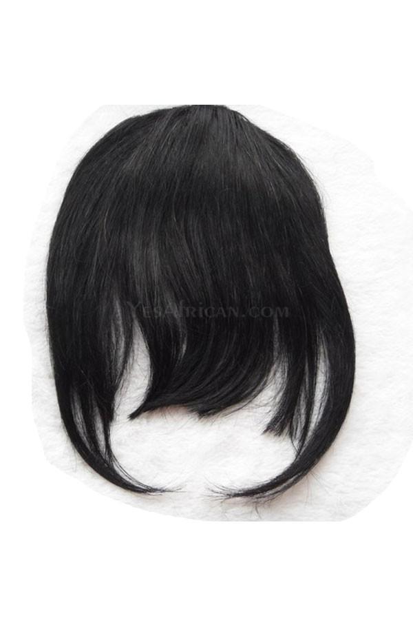 Natural Bang Clip In Bangs Fringe Extensions Colorful Human Hair