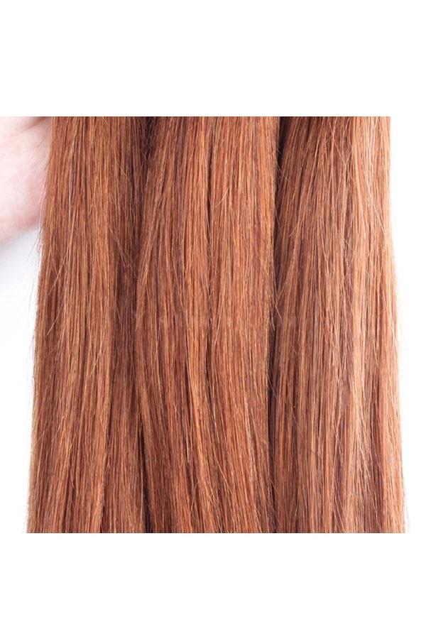 color 30 medium brown brazilian virgin hair straight hair weave 3