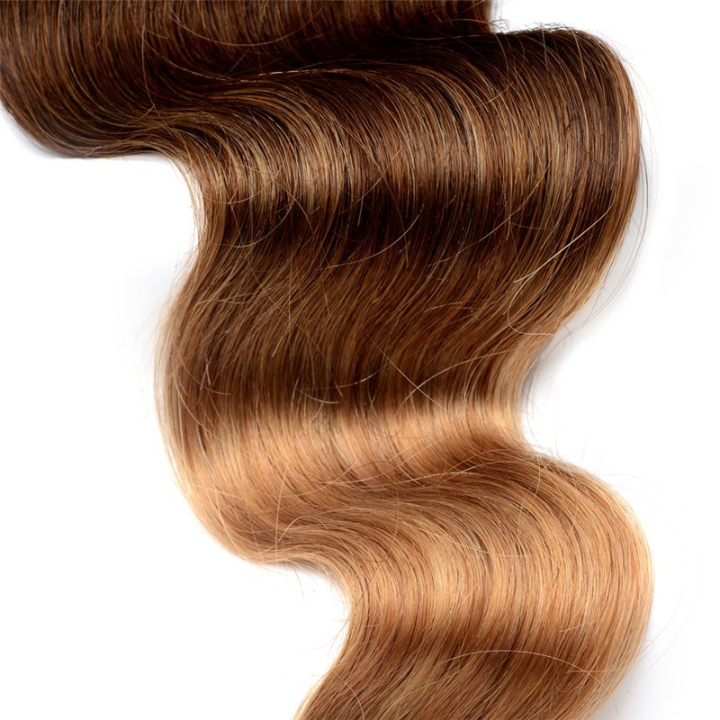 Body Wave 1b427 Ombre Color Brazilian Virgin Human Hair Weave 4