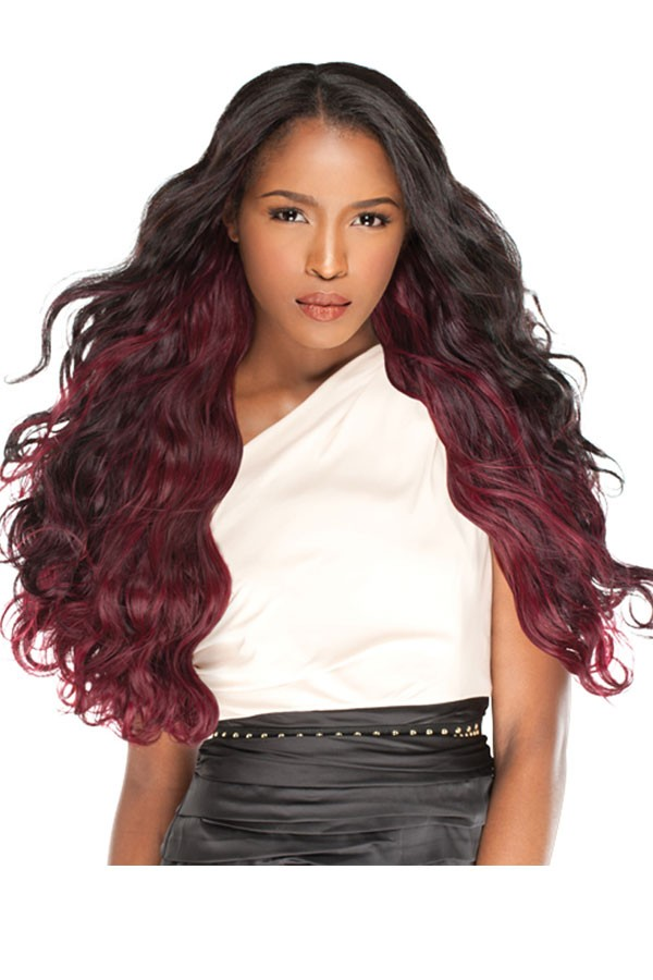 Ombre Hair Weave Color 1b 99j Body Wave Virgin Human Hair 3 Bundles