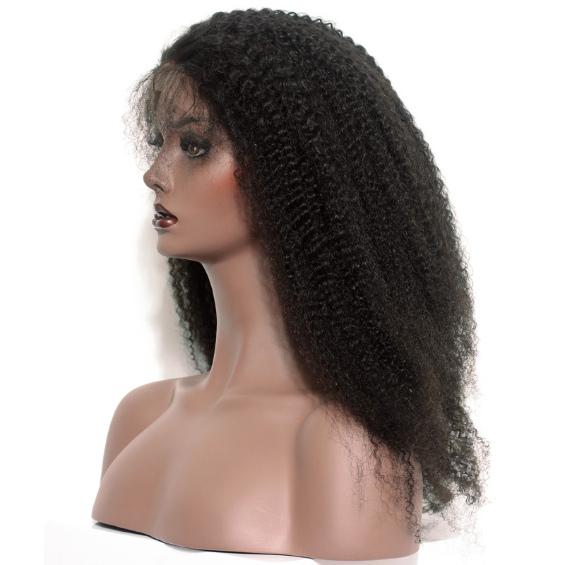 360 Circular Lace Wigs Afro Kinky Curly Brazilian Full Lace Human Hair Wigs  Natural Hair Line ff7e02820266