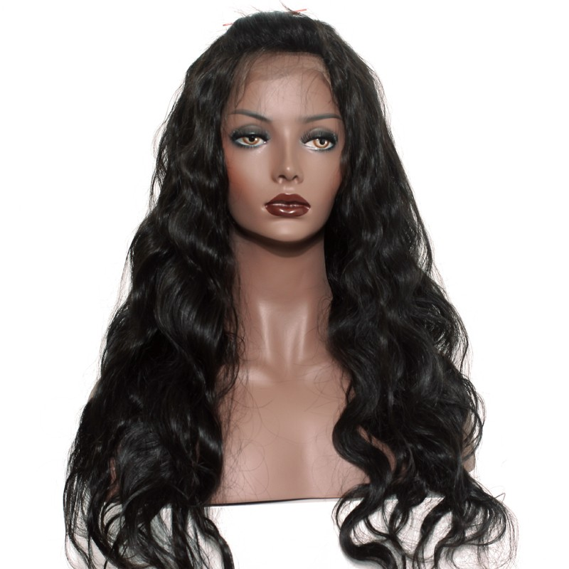 3fe5e0117 360 Lace Wigs Body Wave Brazilian Full Lace Human Hair Wigs Natural Hair  Line 180%