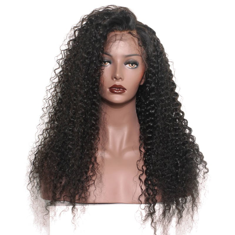 5175422f0117 250% High Density Glueless Lace Front Human Wigs with Baby Hair for Black  Women Natural