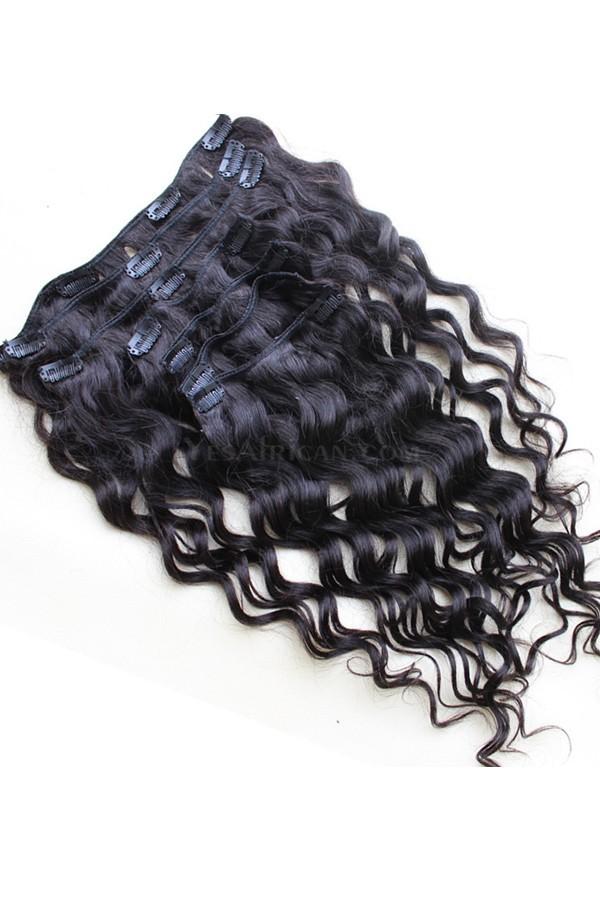 Natural Color Loose Wave Mongolian Virgin Hair Clip In Human Hair