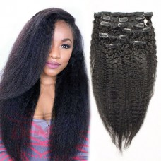 Human hair weaveweft hair extensionsweave hair extensionsweave 8a italian coarse yaki clip in hair extensions brazilian kinky straight clip in human hair extensions pmusecretfo Images
