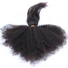 Natural Color Afro Kinky Curly Braid In Bundle Hair Weaves Brazilian Virgin Human Hair 3 Bundles