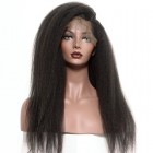 360 Lace Wigs 180% Density Lace Front Wigs 8A Brazilian Kinky Straight Human Hair Wigs