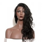 Lace Front Human Hair Wigs Elastic Cap 100% Malaysian Virgin Hair Wig Body Wave Pre-Plucked Natural Hair Line
