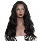 360 Lace Wigs Body Wave Malaysian Full Lace Human Hair Wigs Natural Hair Line 180% Density