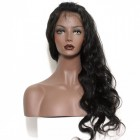 360 Lace Wigs Burmese Full Lace Human Hair Wigs Body Wave Natural Hair Line 180% Density