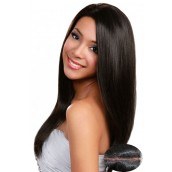 Natural Color Silk Straight Silk Top Lace Wigs Brazilian Virgin Human Hair