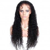 Natural Color 100% Brazilian Virgin Human Hair Brazilian Curly Full Lace Wigs