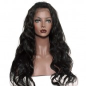 Unprocessed Natural Color 100% Brazilian Virgin Human Hair Body Wave Full Lace Wigs