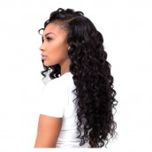 Natural Color Deep Wave Wavy Full Lace Wigs Brazilian Virgin Human Hair