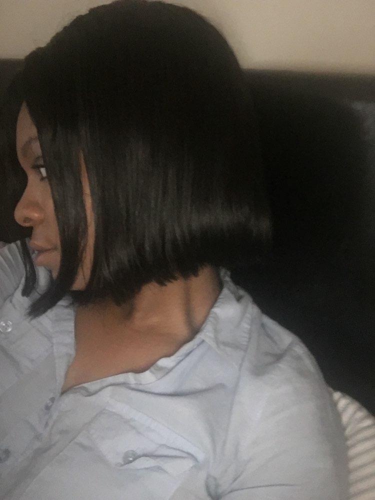 250% Density Short Straight Human Hair Bob Wig For Women Natural Color