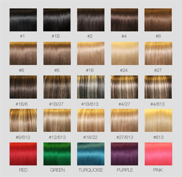 Color chart online shopping for human hair weave lace wigs lace